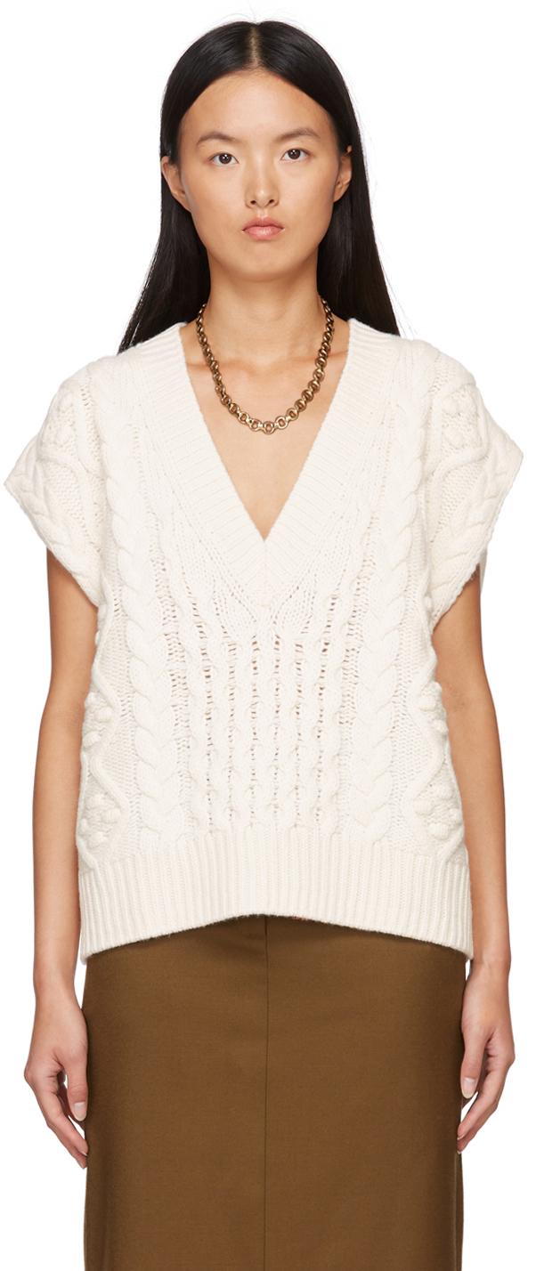 White Torreta Sweater Vest