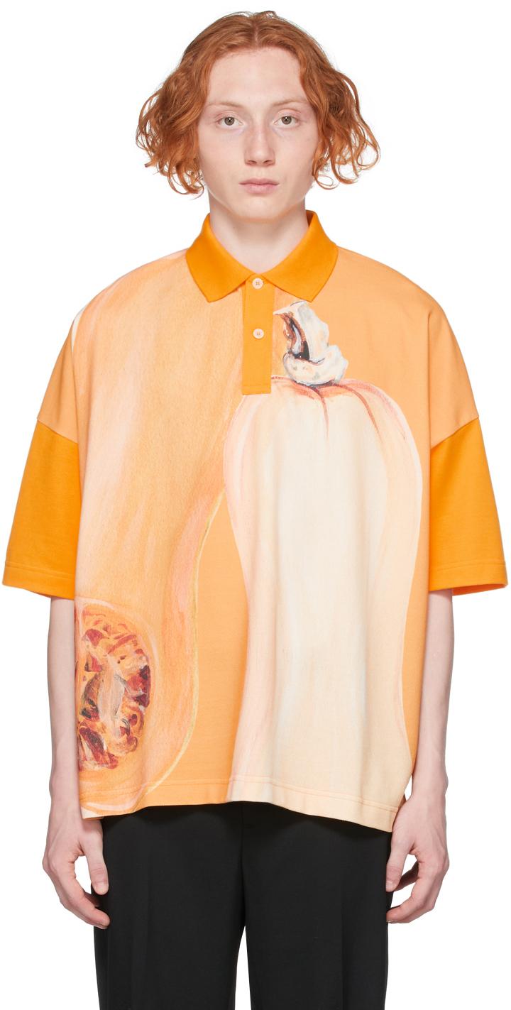 Orange Oversized Veggie Polo