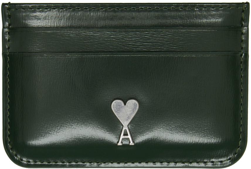 Green Ami de Cœur Card Holder
