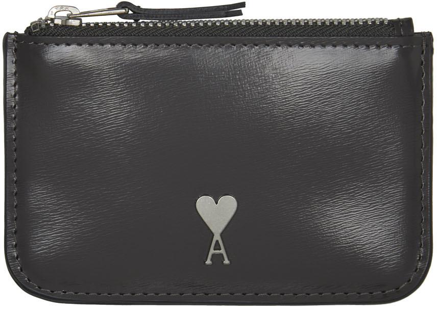 Grey Ami de Cœur Zipped Wallet
