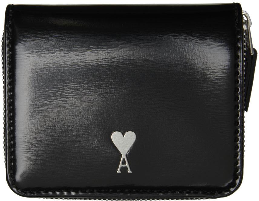 Black Ami de Cœur Compact Wallet