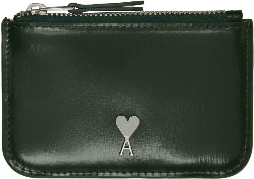 Green Ami de Cœur Zipped Wallet