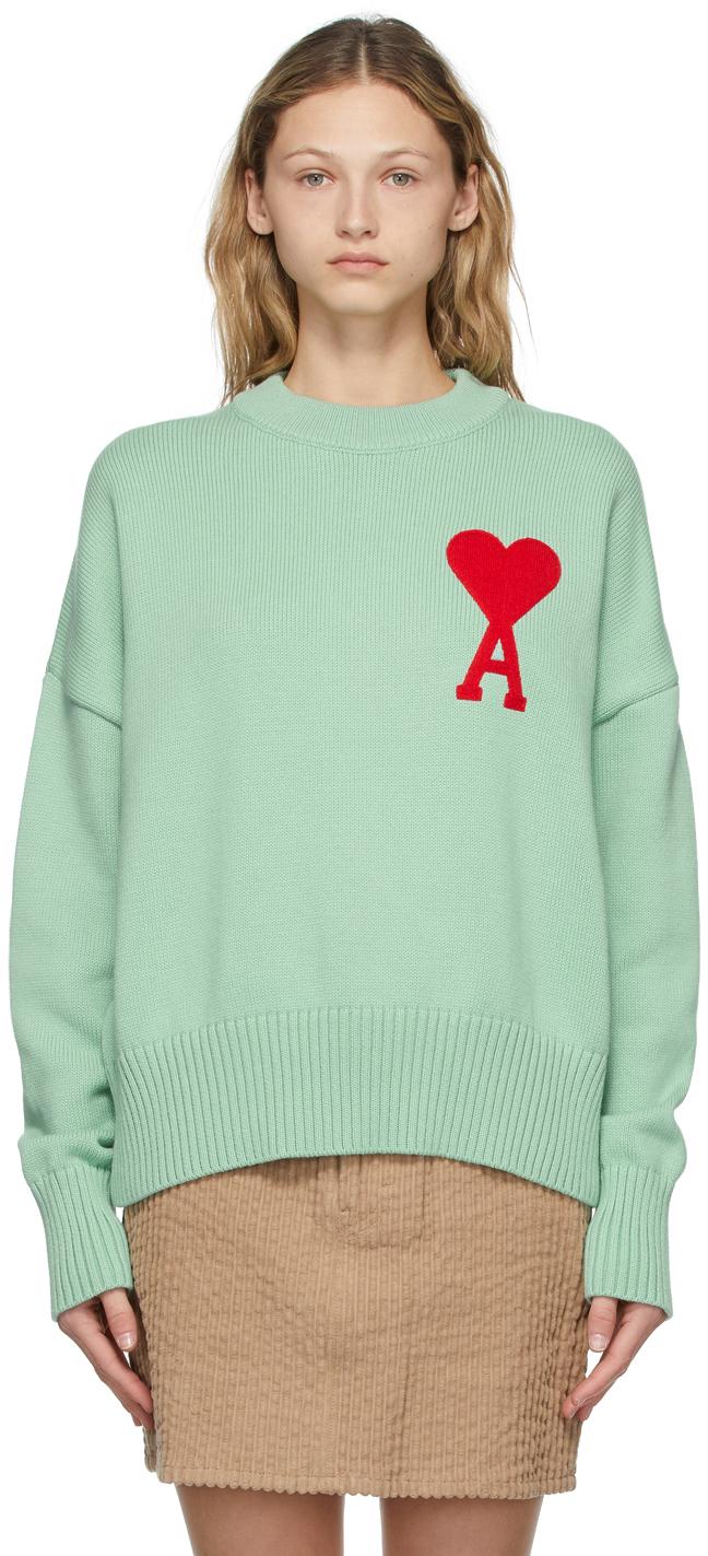 Green Oversize Ami de Cœur Sweater