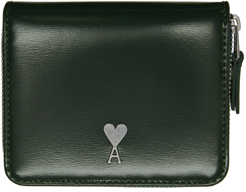 Green Ami de Cœur Compact Wallet