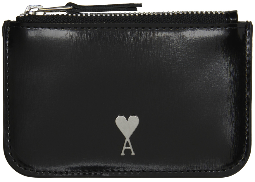 Black Ami de Cœur Zipped Wallet