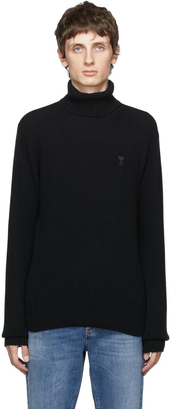 Black Cashmere Ami de Cœur Turtleneck