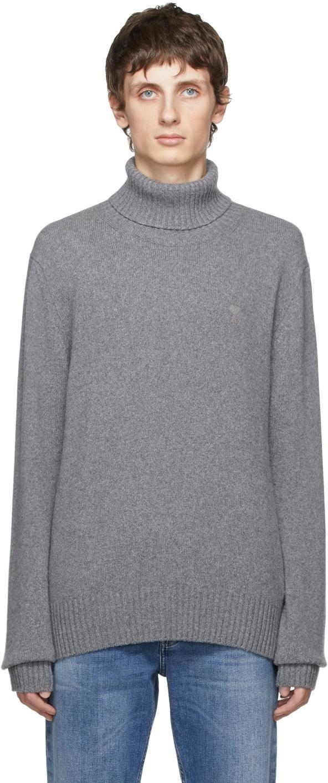 Grey Cashmere Ami de Cœur Turtleneck
