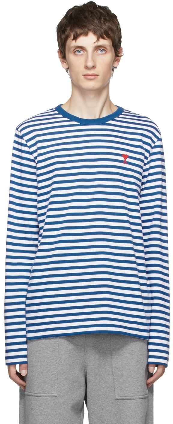 Blue & White Ami de Cœur Marinière Long Sleeve T-Shirt