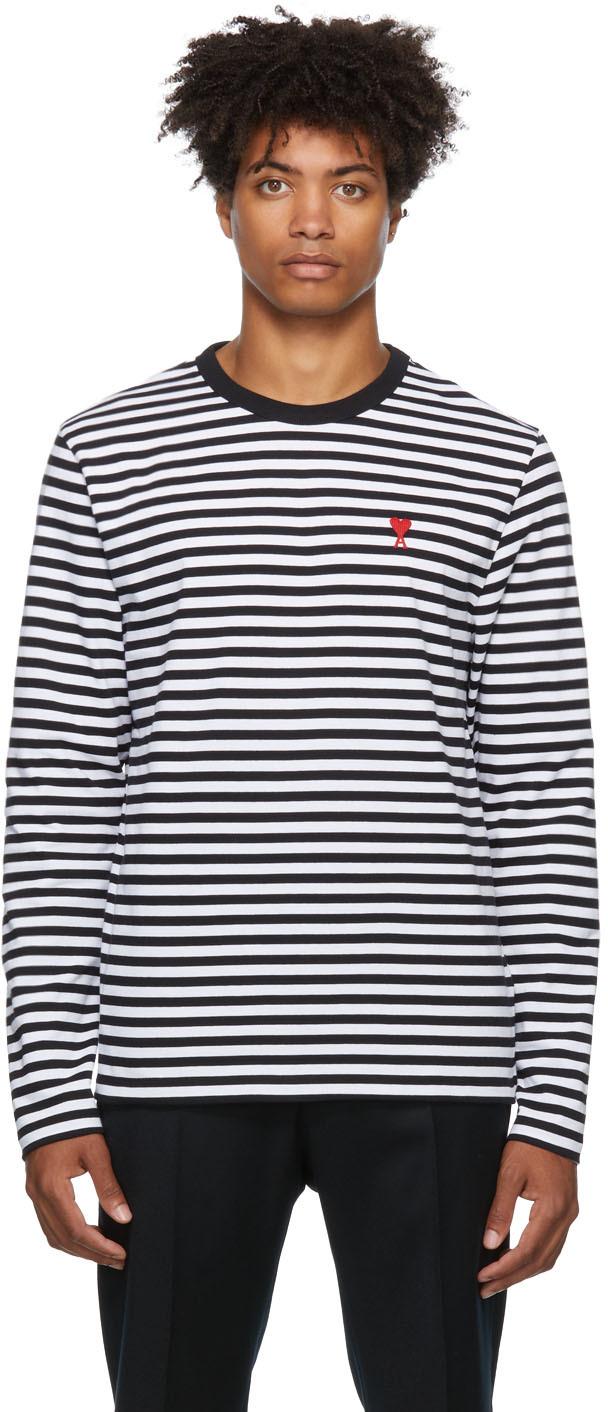 Black & White Ami de Cœur Marinière Long Sleeve T-Shirt