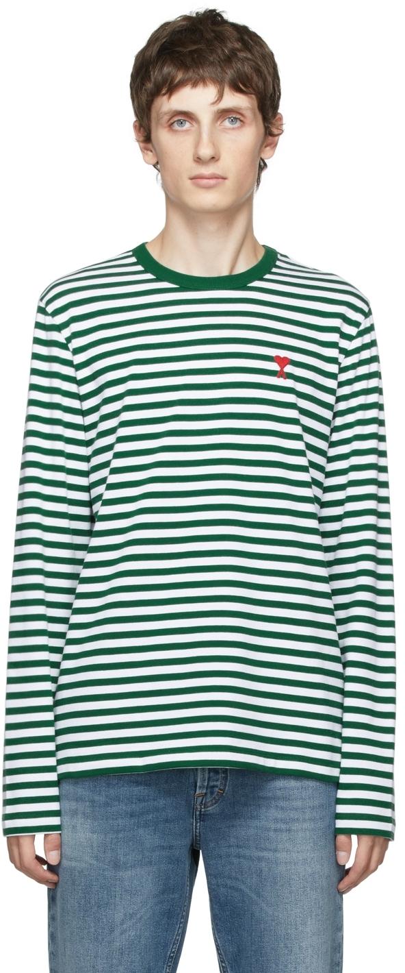 Green & White Ami de Cœur Marinière Long Sleeve T-Shirt
