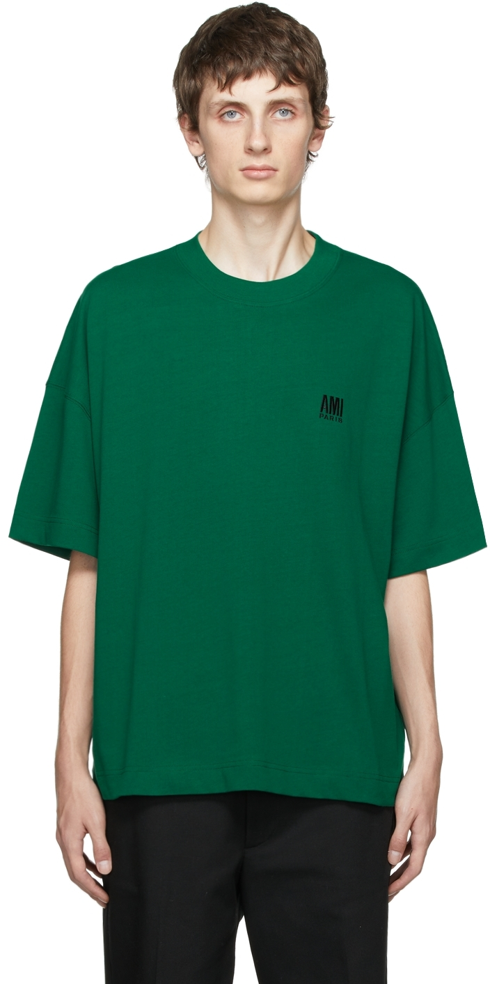 Green Embroidered Logo Oversize T-Shirt