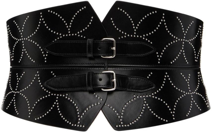 Black Studded Corset Belt