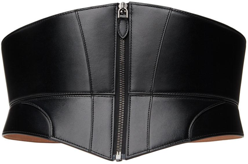 Black Zip Corset Belt