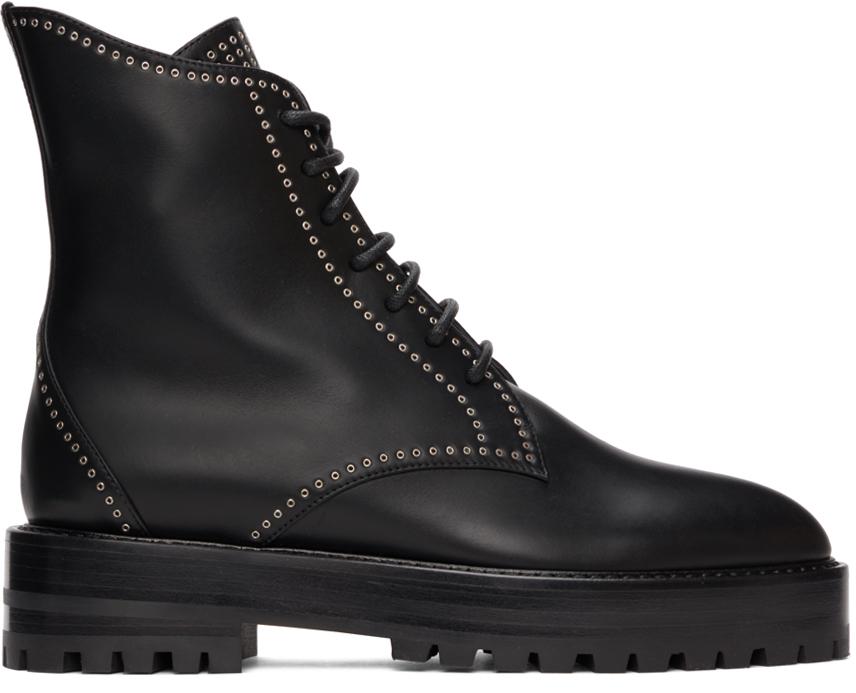 Black Eyelet Trekking Boots