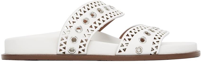 White Strap Sandals