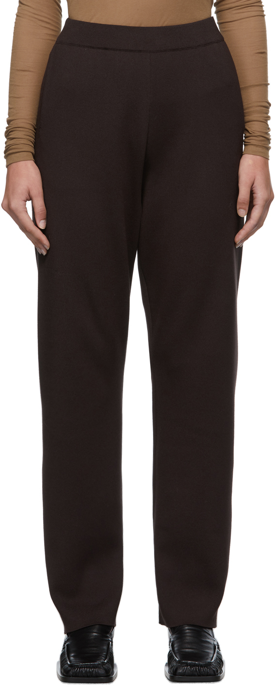 Brown Super High Gauge Knit Trousers