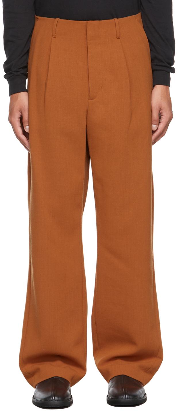 Orange Wide-Leg Trousers