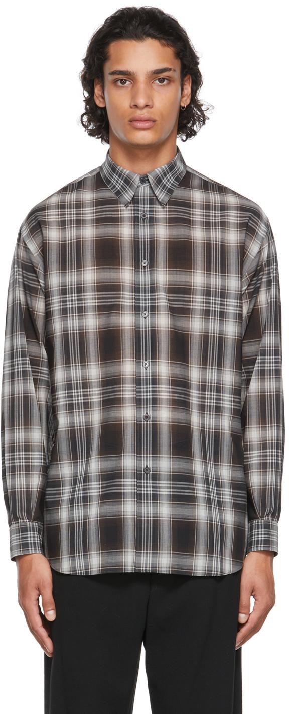 Black & Brown Wool Check Shirt