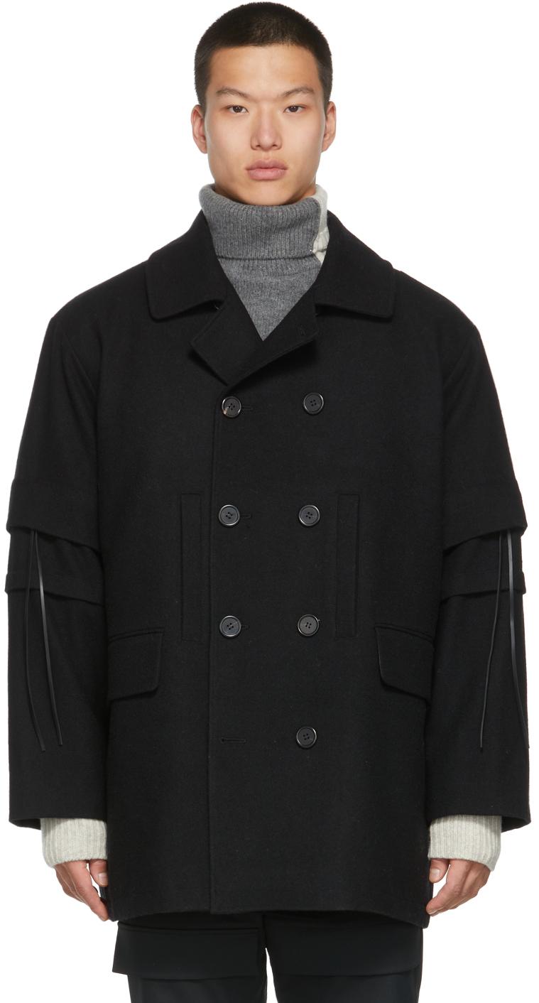 Black Detachable Coat