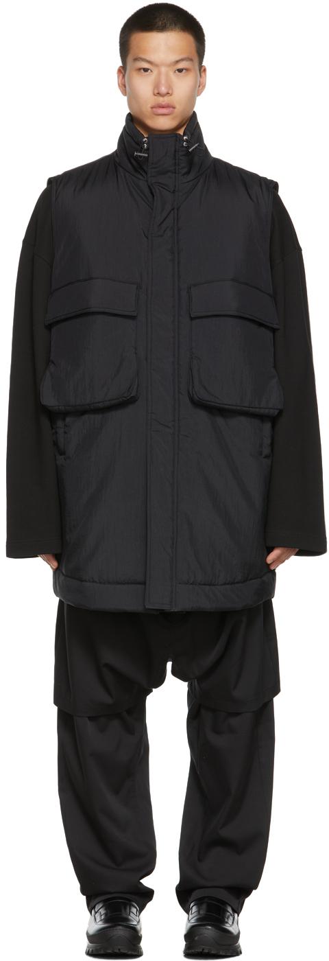 Black Padded Utility Vest