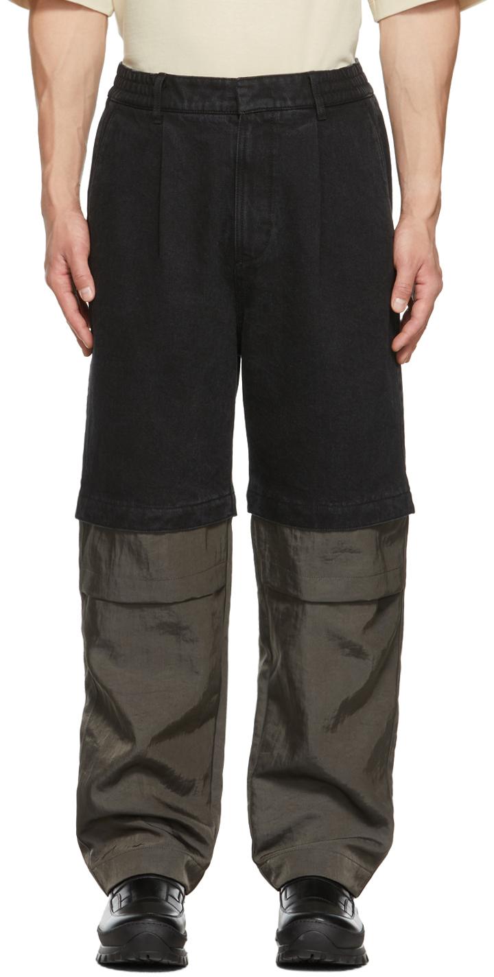 Black Detachable Jeans