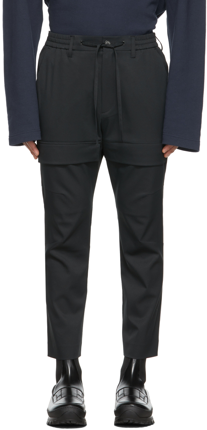 Black Combat Cargo Pants