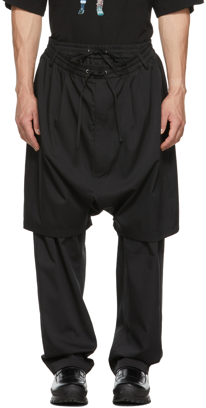 Black Double Layered Trousers