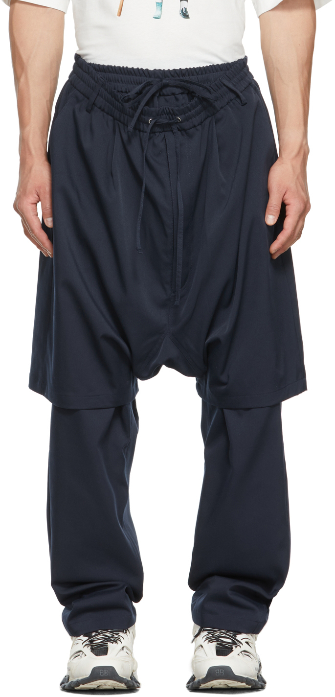 Navy Double Layered Trousers