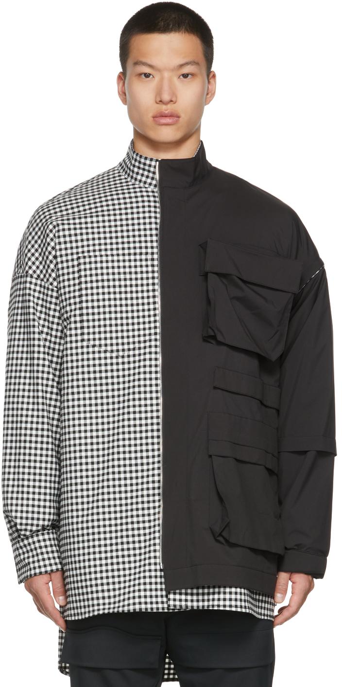 Black & White Check Detachable Shirt