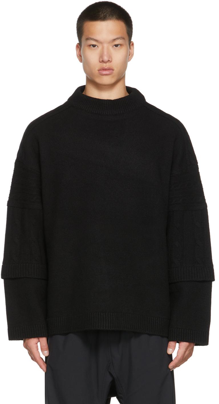 Black Round Neck Sweater