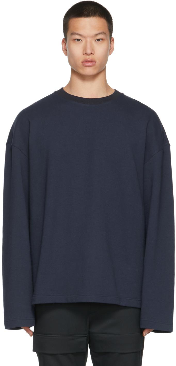 Navy & Silver Crown Long Sleeve T-Shirt