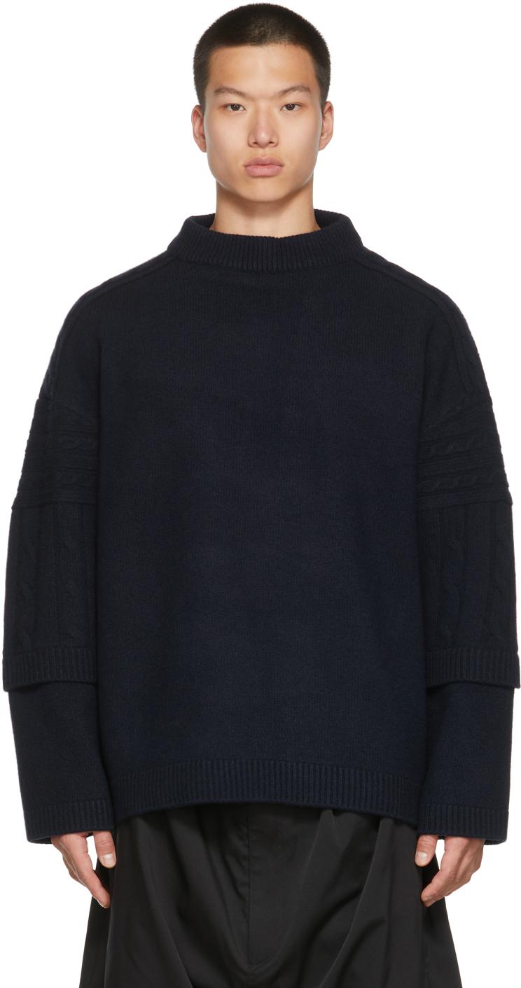 Navy Round Neck Sweater