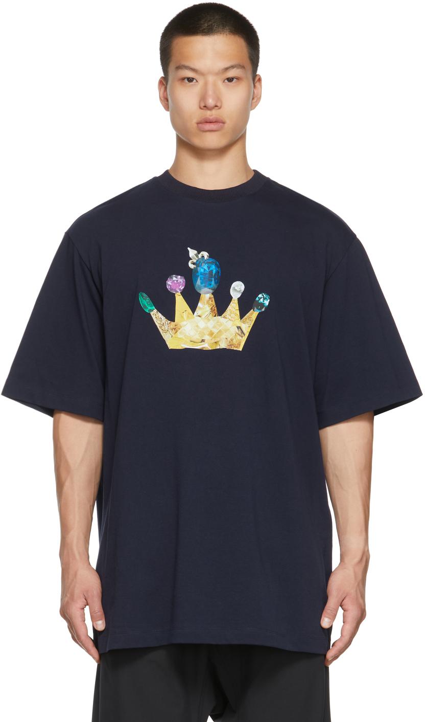 Navy Gold Crown T-Shirt