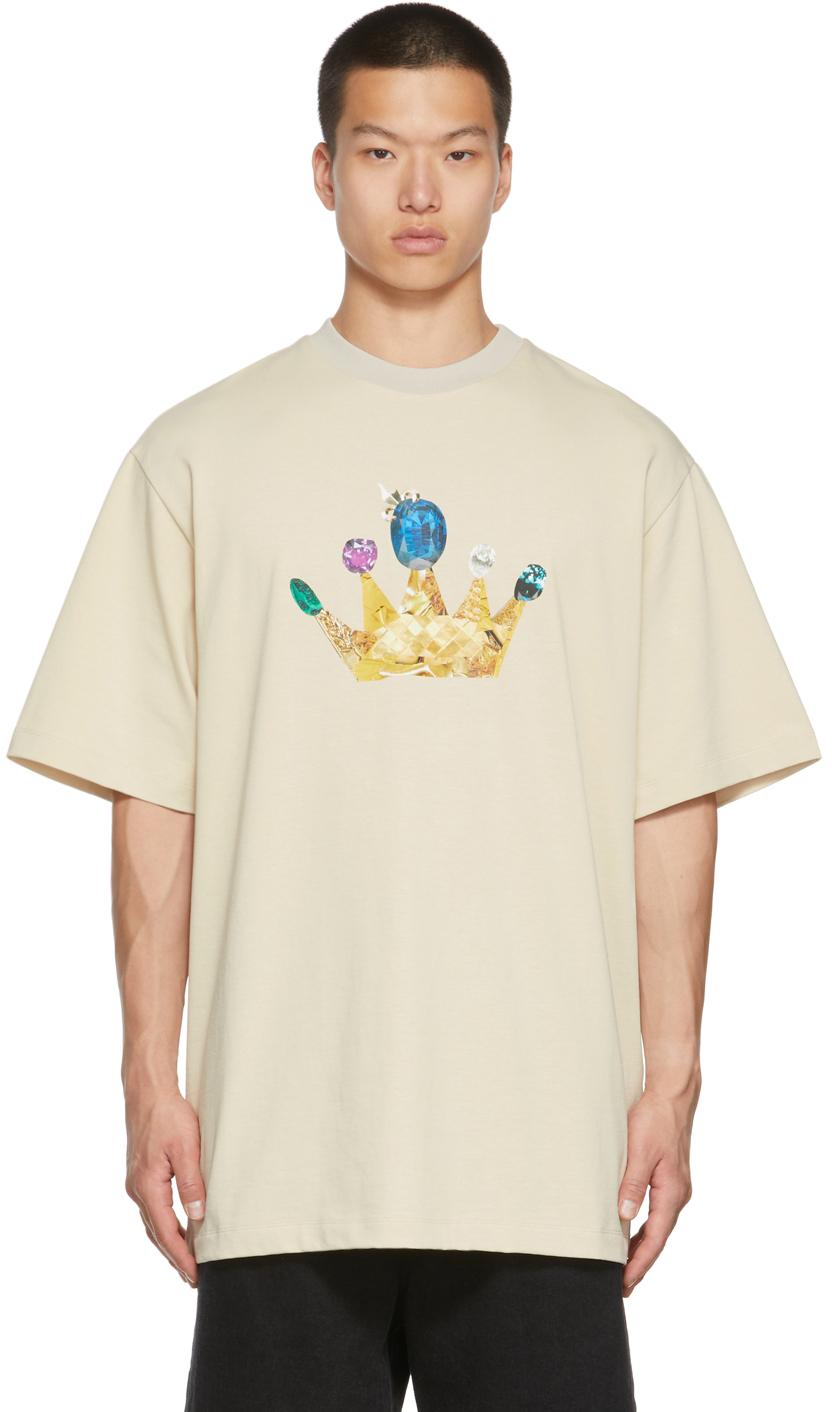 Beige Gold Crown T-Shirt