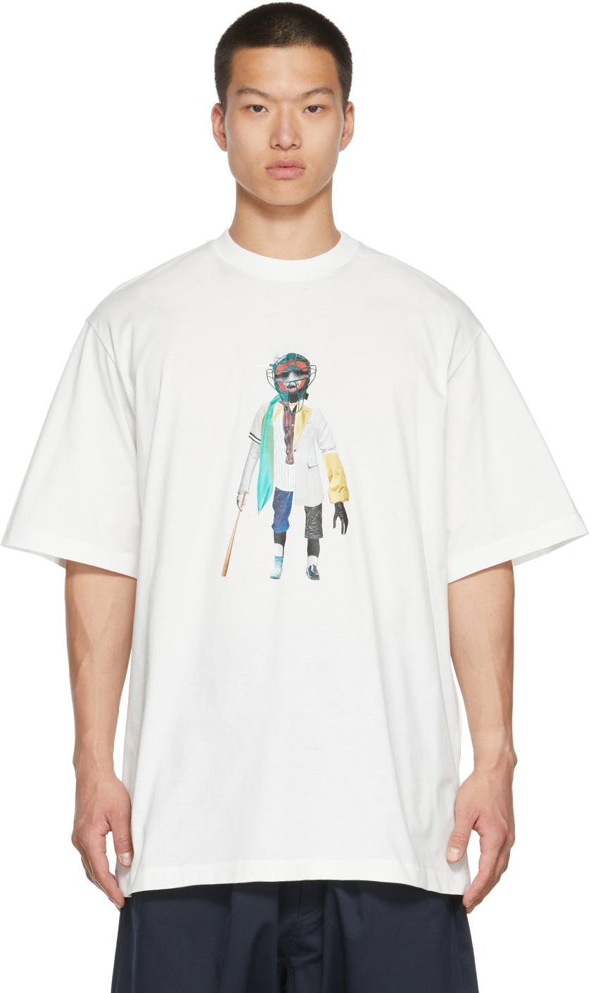 White Collage T-Shirt