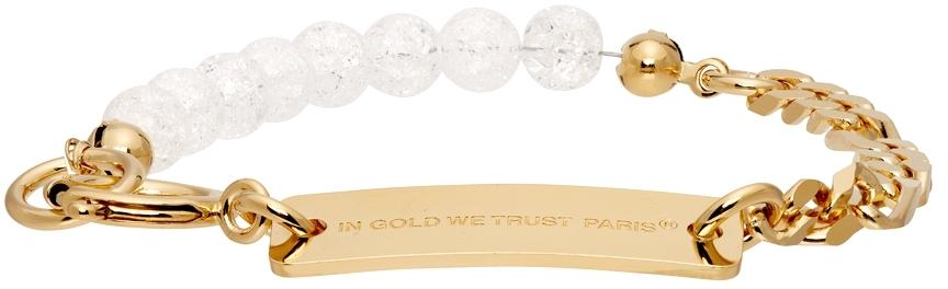 SSENSE Exclusive Gold Chain & Bead Bracelet