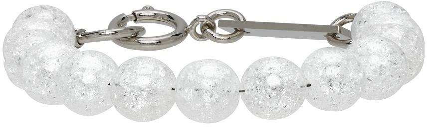 SSENSE Exclusive Silver Beaded Bracelet