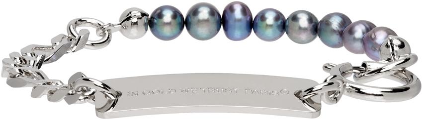 SSENSE Exclusive Silver Chain & Pearl Bracelet