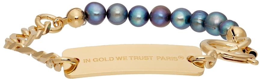 SSENSE Exclusive Gold Chain & Pearl Bracelet