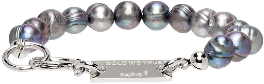 SSENSE Exclusive Silver Pearl Bracelet