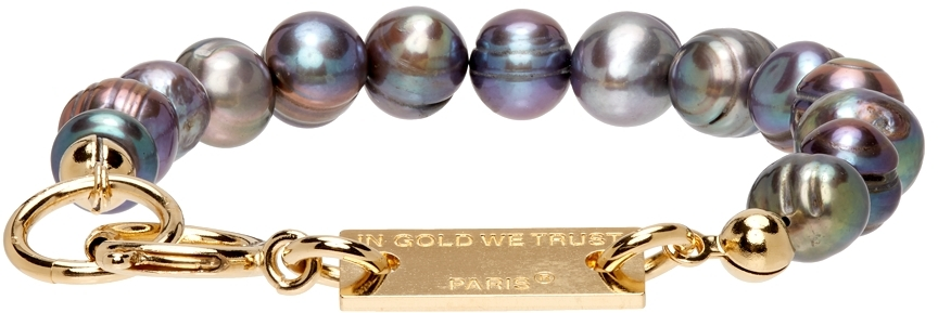 SSENSE Exclusive Gold Pearl Bracelet