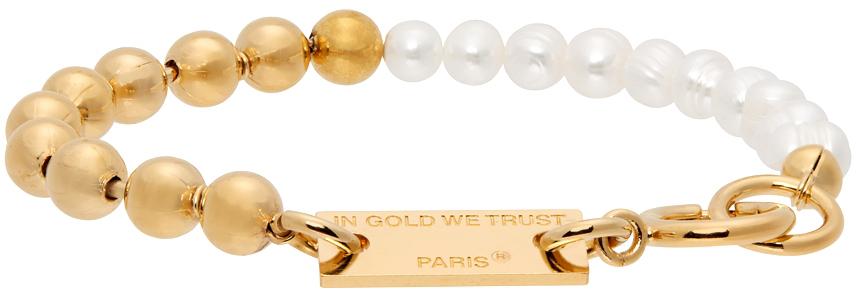 Gold Ball Chain & Pearls Bracelet