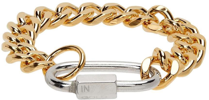 Gold & Silver Cuban Link Bracelet