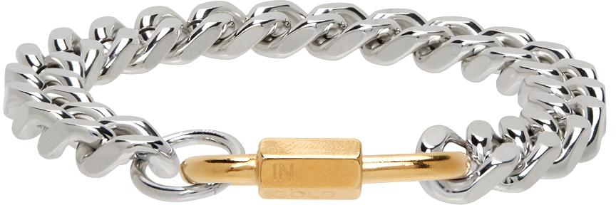 Silver & Gold Cuban Link Bracelet