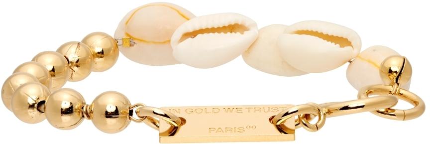 Gold Ball Chain & Seashell Bracelet