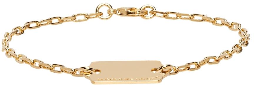 Gold Price Tag Bracelet