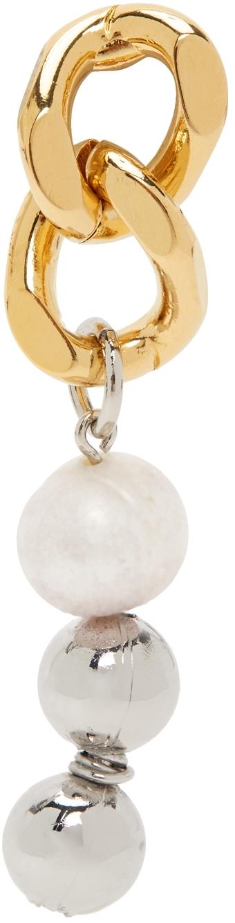Gold & Silver Chain Link Single Earring
