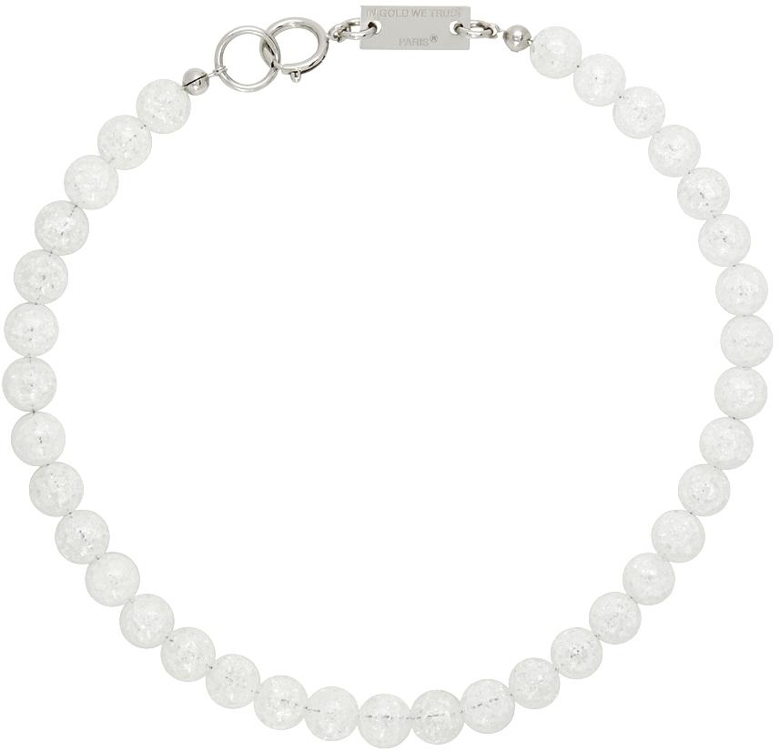 SSENSE Exclusive Silver Transparent Quartz Necklace