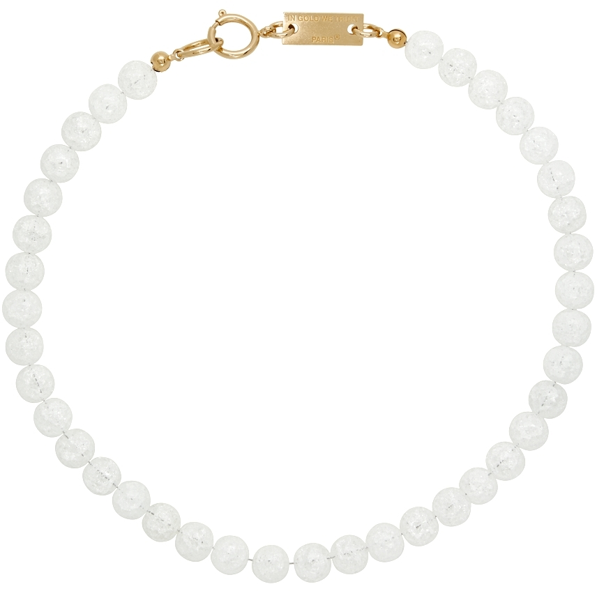 SSENSE Exclusive Gold Transparent Quartz Necklace