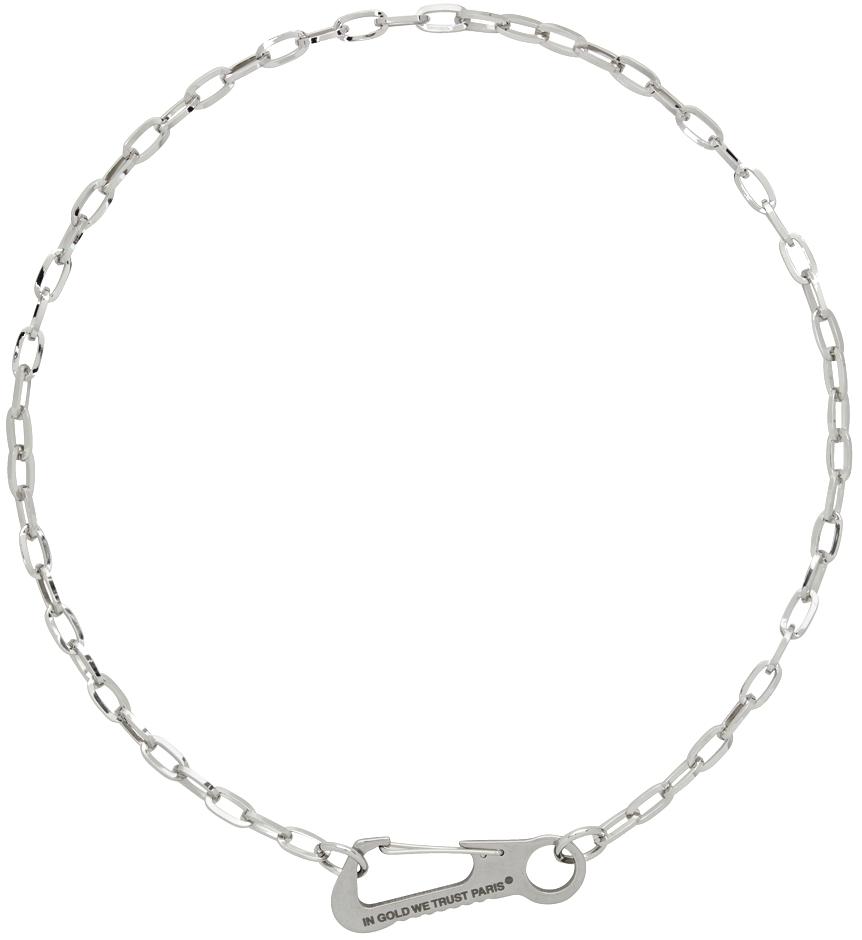 Silver Carabiner Necklace
